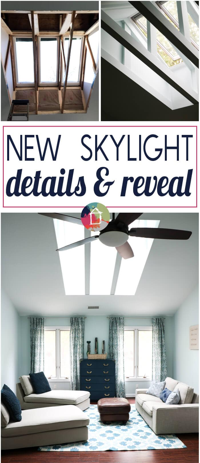 Nothing can brighten a space and create interest on your fifth walls like skylights! Check out this amazing skylight reveal!