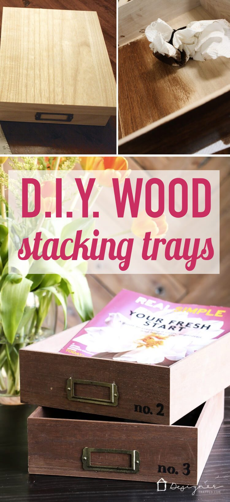 How Cute Are These Diy Desk Organizer Trays Such A Great Way To