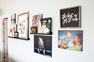 DIY photo canvases are EASY to make and look just as great as expensive, store-bought options!