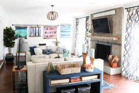 Our New Kid-Friendly Family Room Design + $200 Giveaway!
