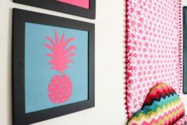 DIY Pineapple Art (the positive + the negative)