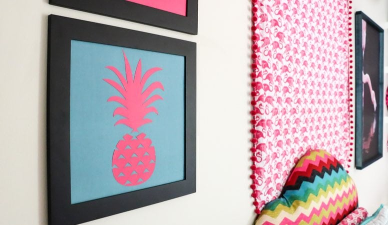 DIY Pineapple Art (the positive + the negative)