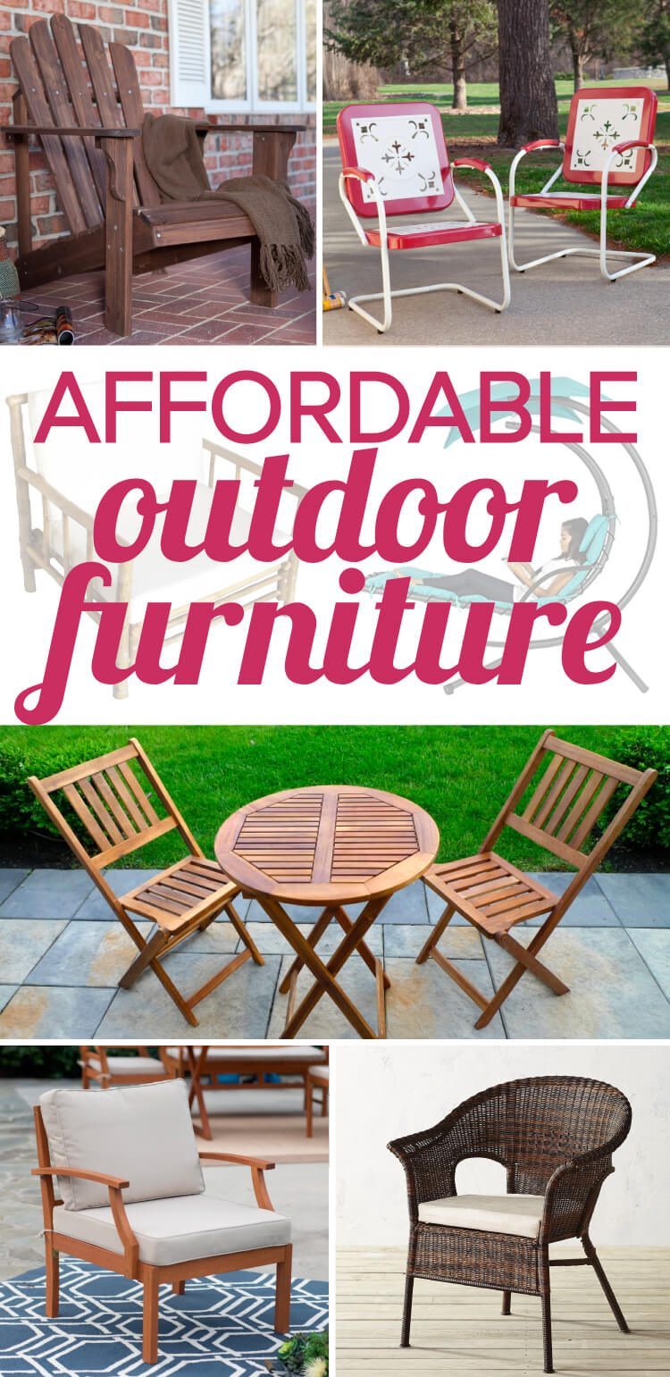 outdoor furniture can be so expensive but there is some affordable outdoor furniture out there