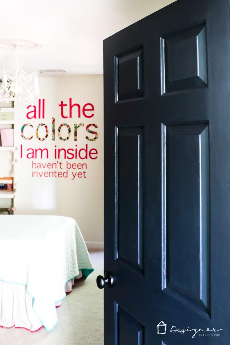 Love The Idea Of Black Interior Doors For An Affordable Interior Update!  All You Have