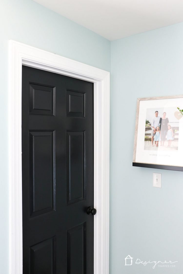 Painting interior doors black high impact low update designer trapped - Sophisticated black interior doors ...
