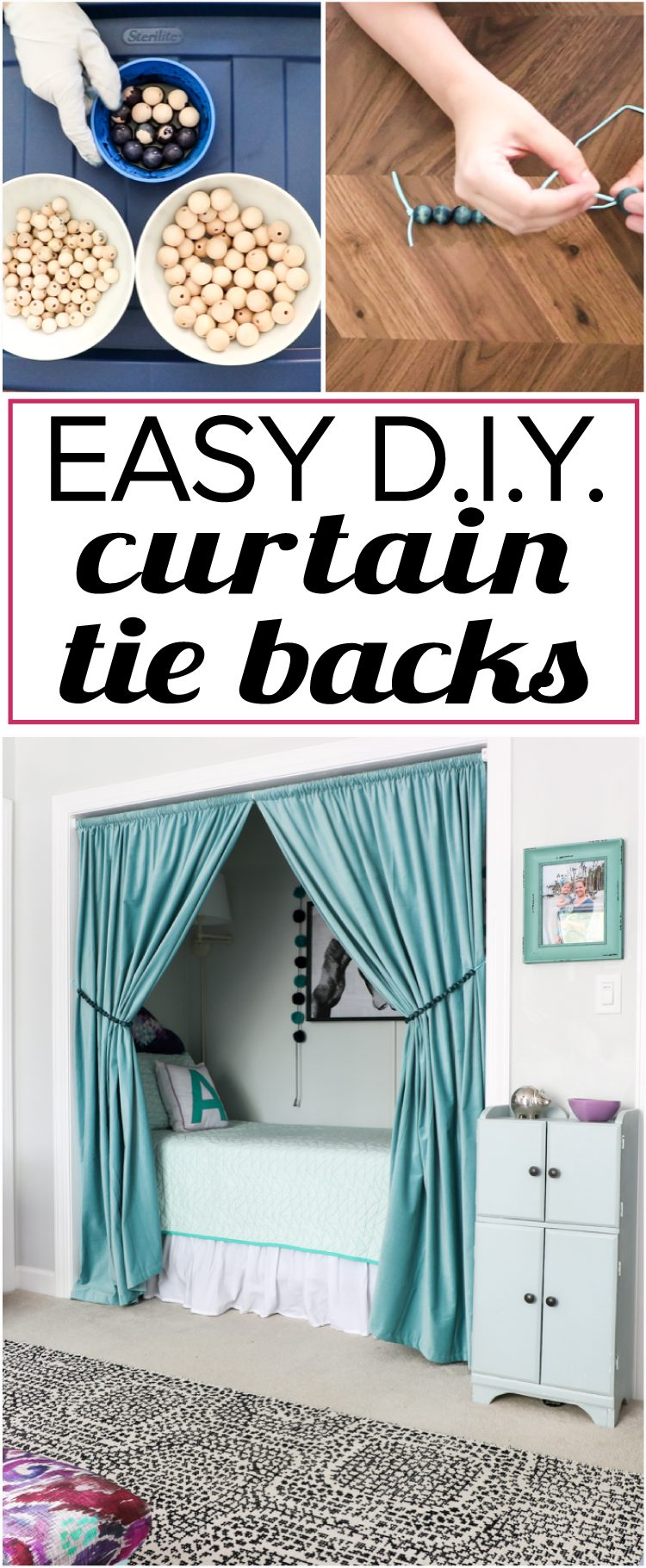 Quick And Easy Diy Curtain Tie Backs Kaleidoscope Living
