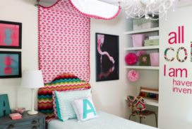 DIY Bed Canopy from Flat Sheets