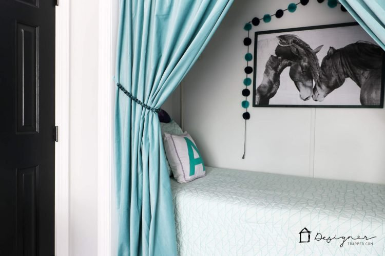 OMG, I absolutely love these DIY curtain tie backs and they are so much cuter than any store-bought curtain tie backs I have seen. Learn how to make your own curtain tie backs with this detailed tutorial. They only take about 15 minutes to make!