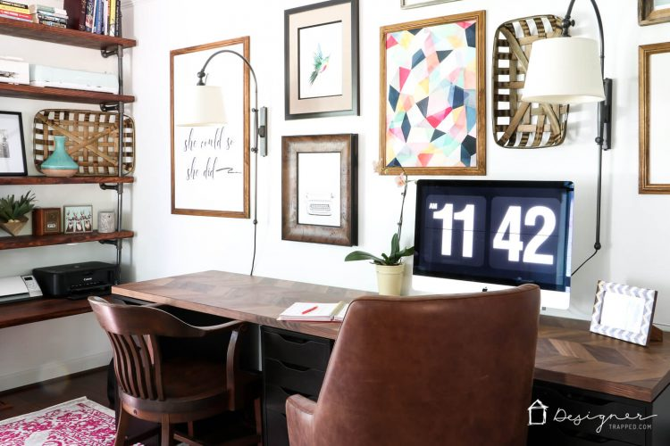 easy and gorgeous ikea desk hack designer trapped