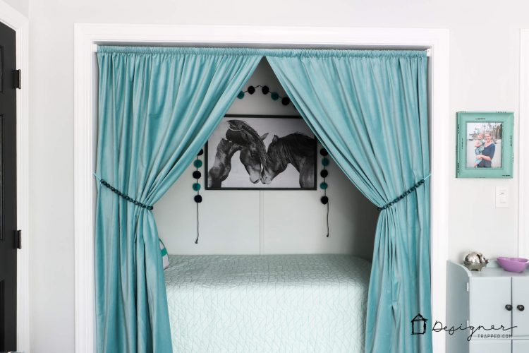 how to turn a closet into a bed nook designertrapped