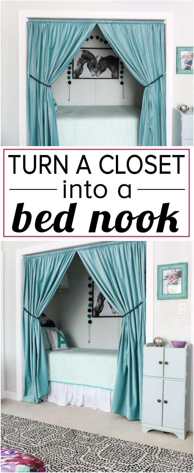 How To Turn A Closet Into A Bed Nook Designertrapped Com