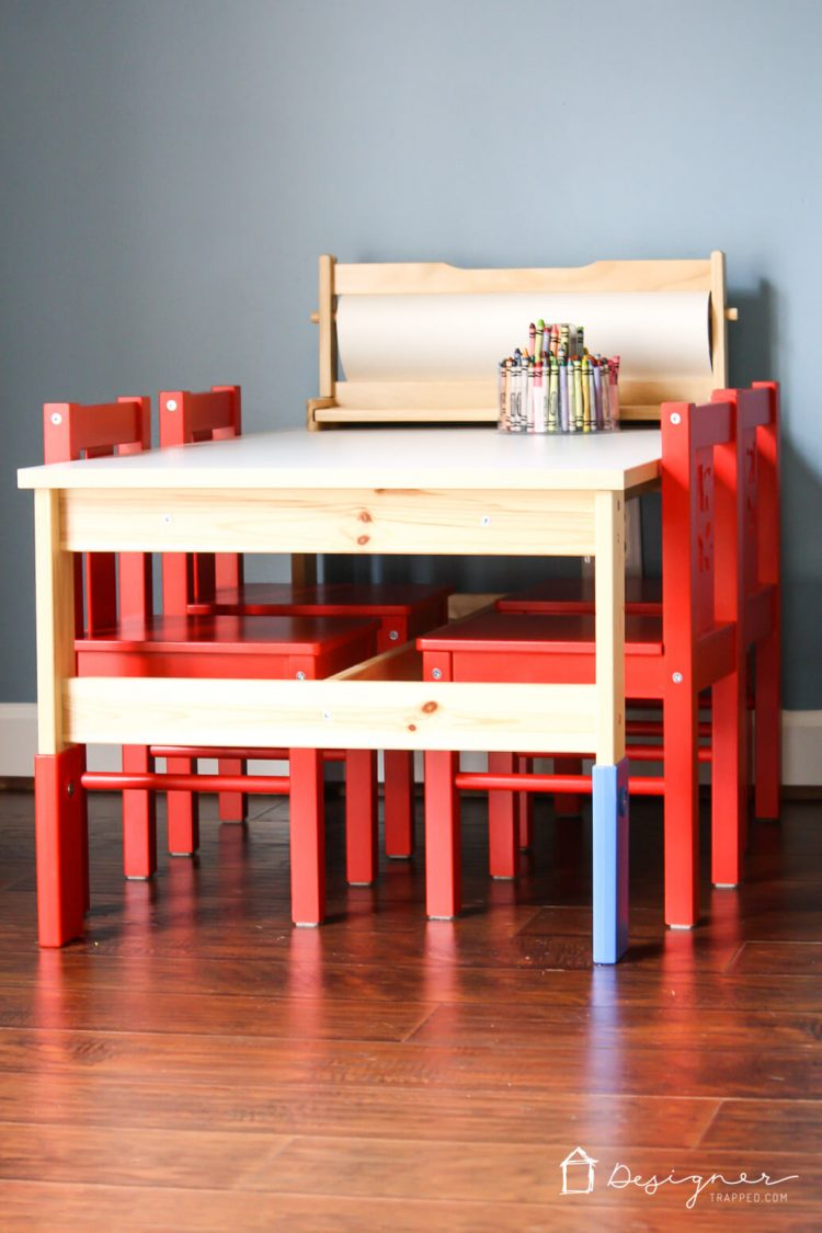 An Ikea Kidu0027s Table And Chairs Can Look Super Stylish With Just A Little  Bit Of