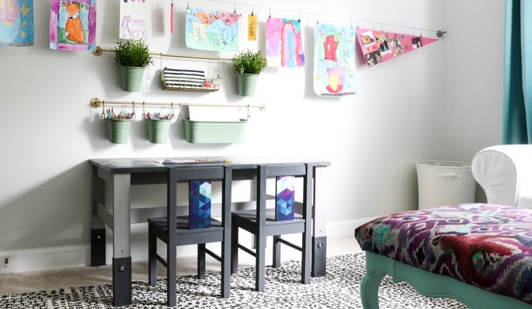 Ikea Kids' Table and Chairs Makeover