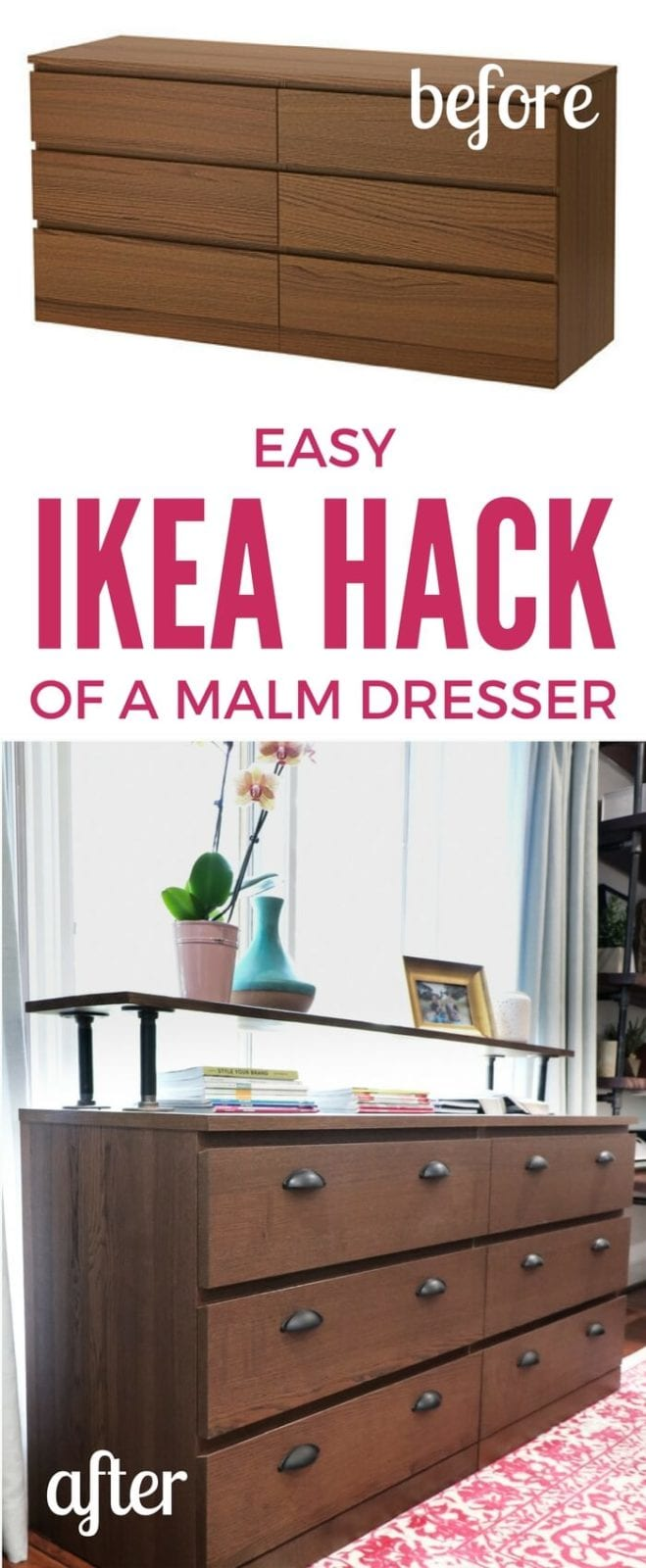 the easiest ikea malm hack ever! | kaleidoscope living