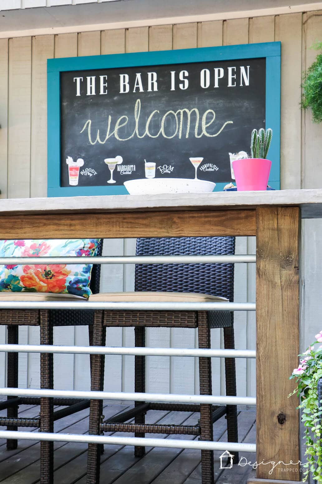 If you have ever wondered how to make a chalkboard to enjoy outside, you are in luck! This tutorial will show you exactly how to make a cute and durable DIY outdoor chalkboard!