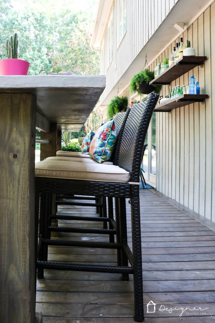 Come check out our complete and total DIY deck makeover! It took months for us to rebuild it and furnish it, but is so worth it!