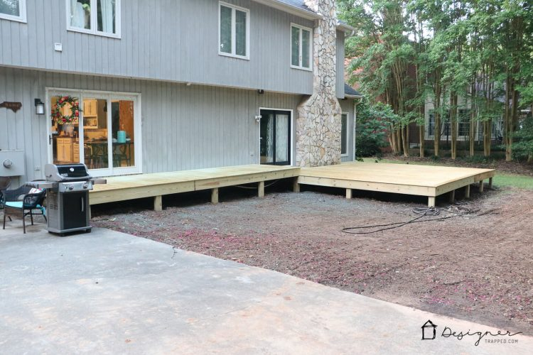 Come check out our DIY deck makeover progress!