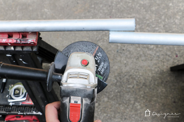 Determine how long your metal conduit railings need to be by measuring the distance between your posts and adding 1 1/2 inches to your measurement (you need some length to fit securely in the holes you will be drilling in the posts).