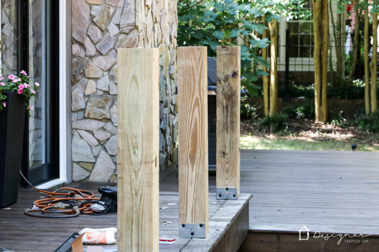 Dreaming of an outdoor bar or deck bar? We were too and we are sharing our plans for this easy and affordable DIY deck bar!