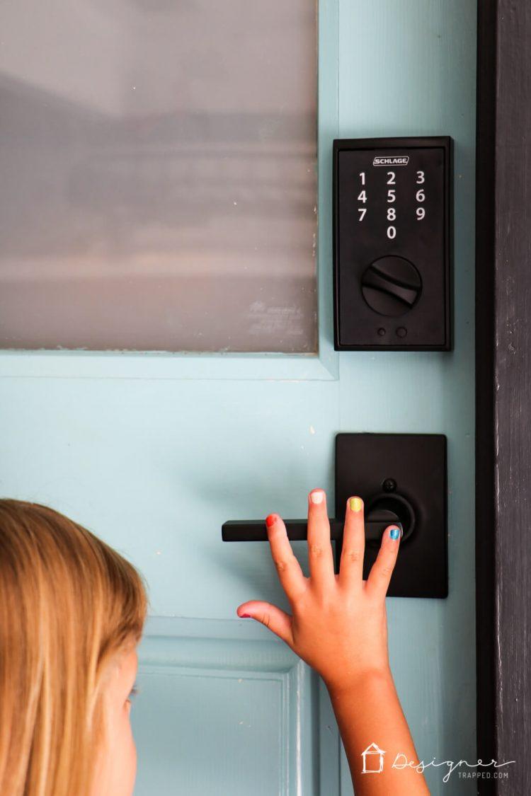 Go keyless so you have one less thing to worry about! Learn all about Schlage electronic locks in this real-life post :)