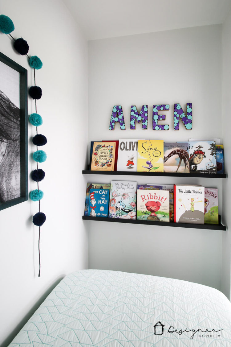 Such a cute way to remind your kids to pray! Amen wall decor. Paper mache letters.