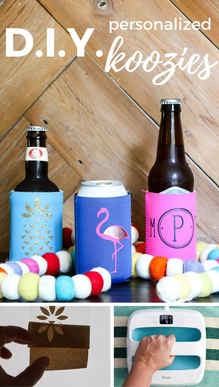 diy personalized koozies are fun to create and make awesome gifts follow this easy step by step tutorial to make your own