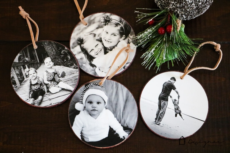 These DIY photo Christmas ornaments are so easy to make and are a great way to display some of your special family memories!