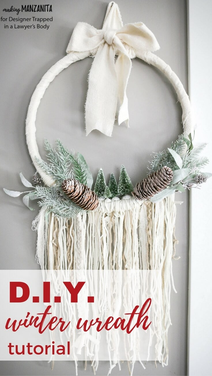 Diy Winter Wreath Boho Style Kaleidoscope Living