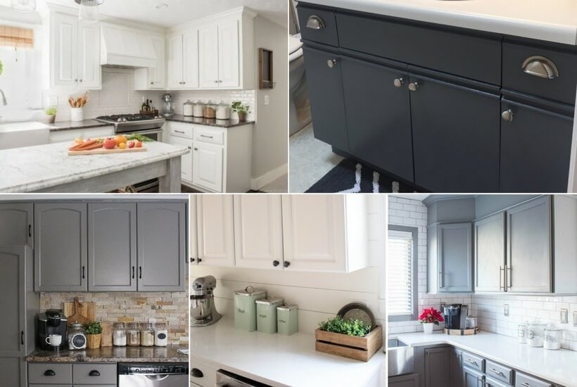 The BEST Paint For Kitchen Cabinets Cabinet Transformations - What kind of paint to use on kitchen cabinets