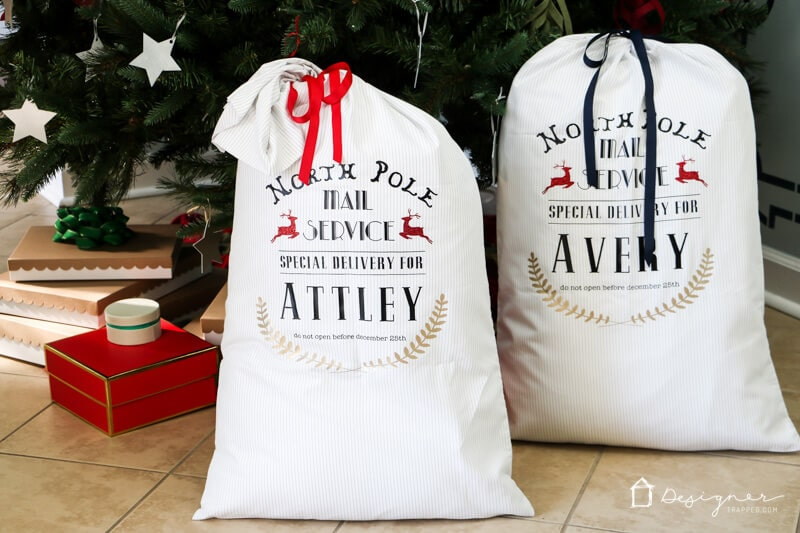 DIY Santa Sacks Your Kids Will LOVE!