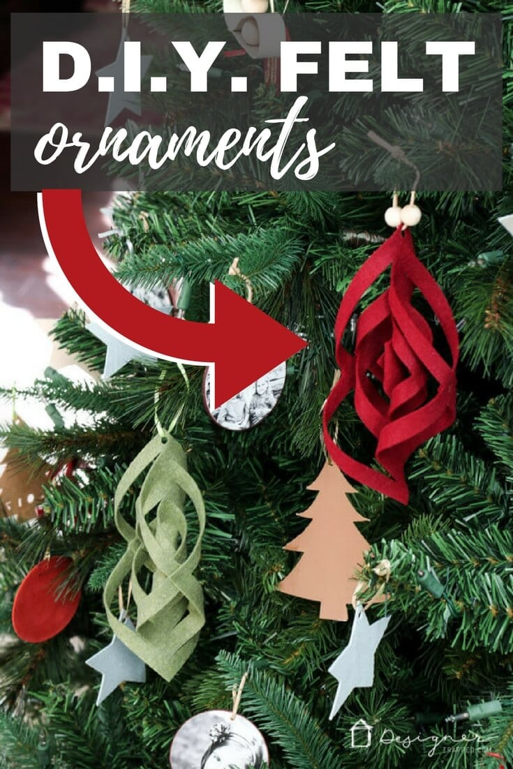 Diy unique christmas ornaments made from felt designer Creative christmas trees to make