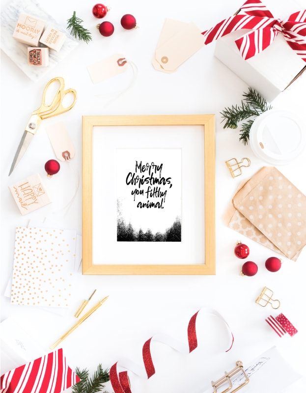 the free printable christmas cards are the perfect way to spread holiday cheer