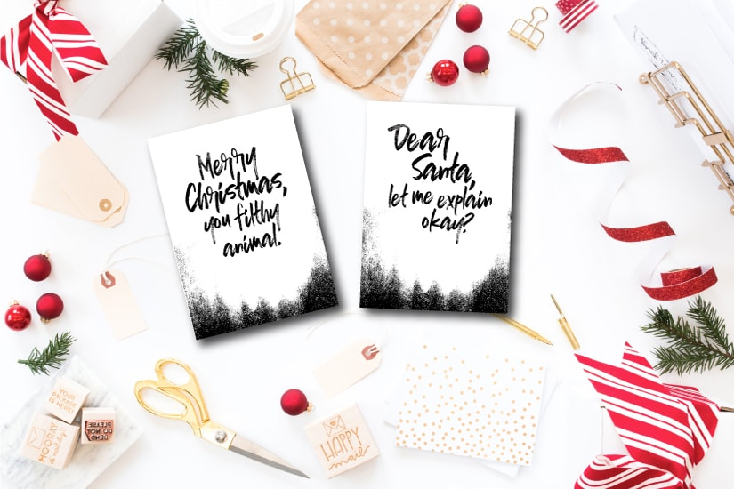 Dynamite image throughout free printable funny christmas cards