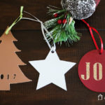 These handmade Christmas ornaments from leather are so unique and add a modern touch to any Christmas tree! Best of all, you can cut leather quickly and easily with the right tool!