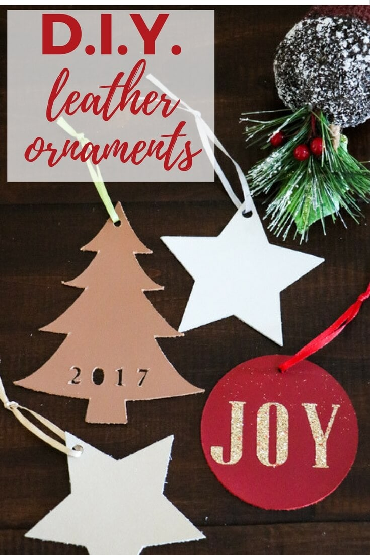 these handmade christmas ornaments from leather are so unique and add a modern touch to any christmas tree best of all you can cut leather quickly and - Handmade Christmas Ornaments