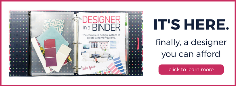 If you want to create a home you love, but can't find affordable interior design services, are overwhelmed by interior design software or interior design books, THIS is the answer for you! Designer in a Binder allows you to become your own interior designer without spending a fortune.