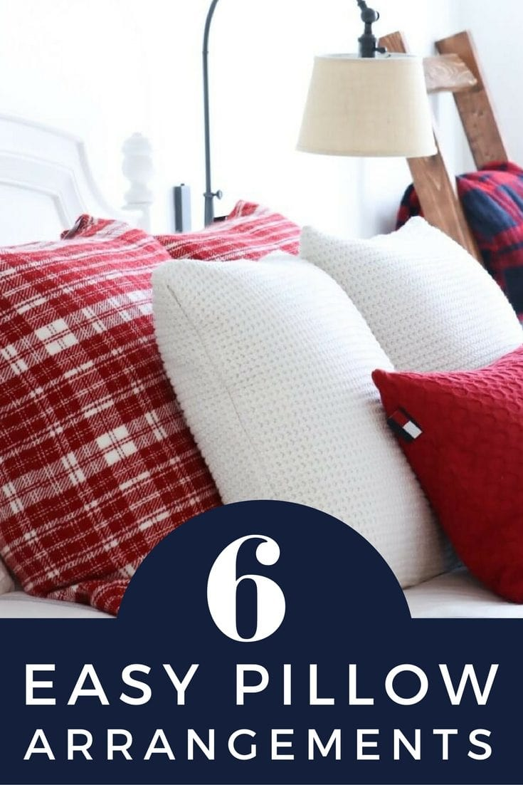 Learning how to dress a bed is key to a beautiful bedroom. These 6 pillow arrangements make styling your bed easy!