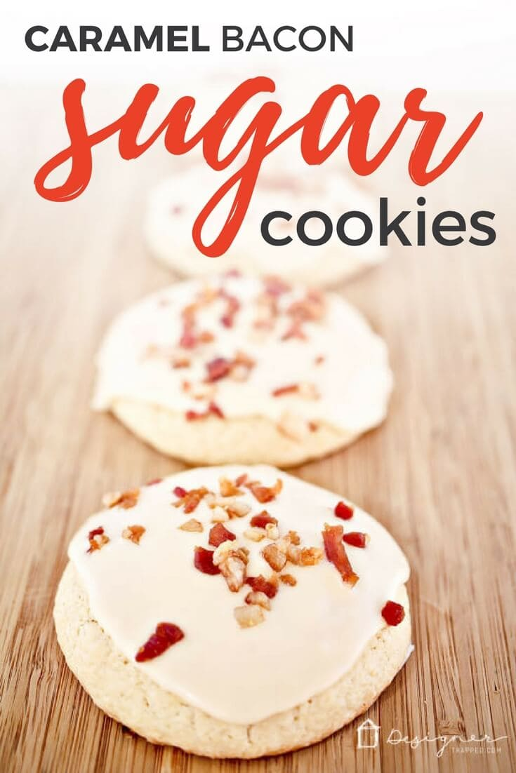 Love sweet and salty treats? Then these decadent Caramel Bacon Sugar Cookies will be your new favorite! Learn how to make these sugar cookies topped with caramel icing and yummy bacon for yourself!