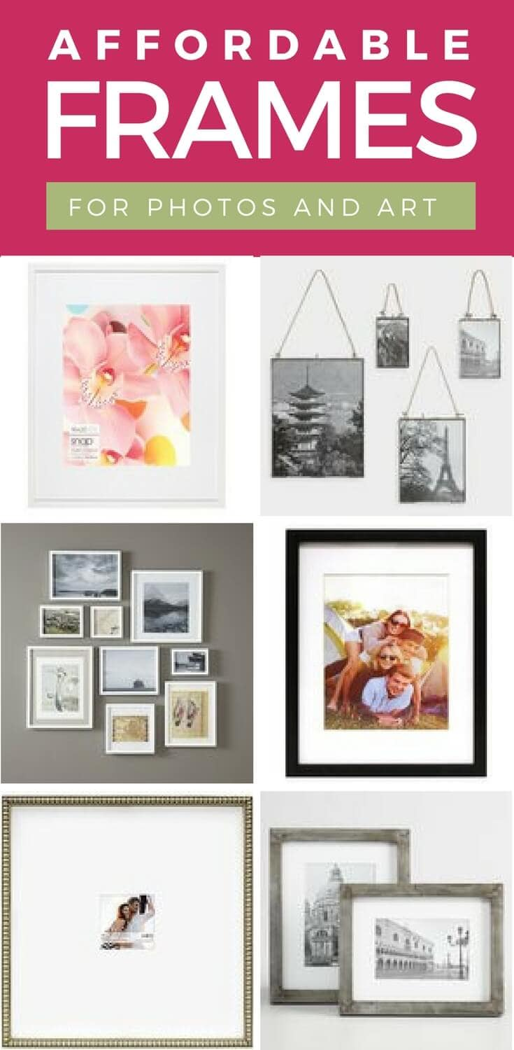 Stylish & Affordable Frames for Photos and Art | Designer Trapped in ...