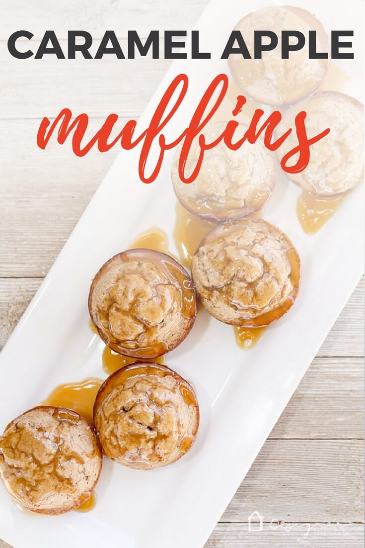 These quick and easy caramel apple cinnamon muffins are delicious. A perfect sweet treat for breakfast or snack, your family will beg for more as soon as they are gone!