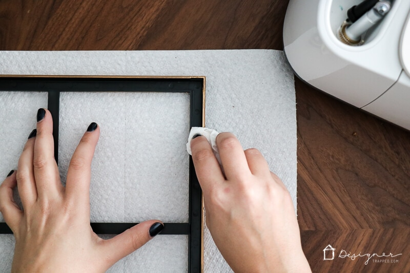 """Gold frames are very on trend right now, but even the """"affordable"""" ones are pretty expensive! But with this easy tutorial you can make your own semi-DIY version on a tiny budget and they are gorgeous!"""