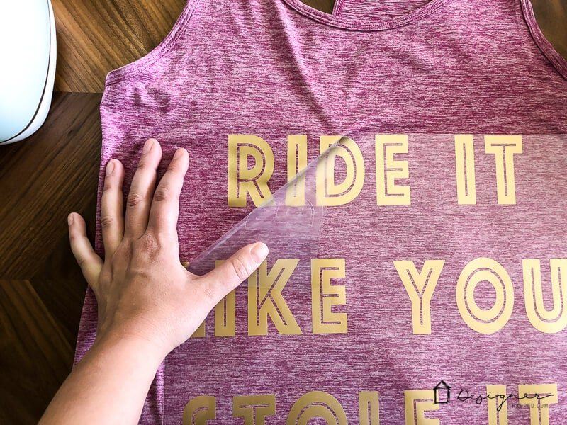 Learn how to use Cricut Iron On Vinyl for workout clothes!