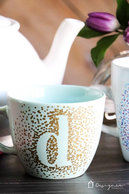 dotted sharpie mug