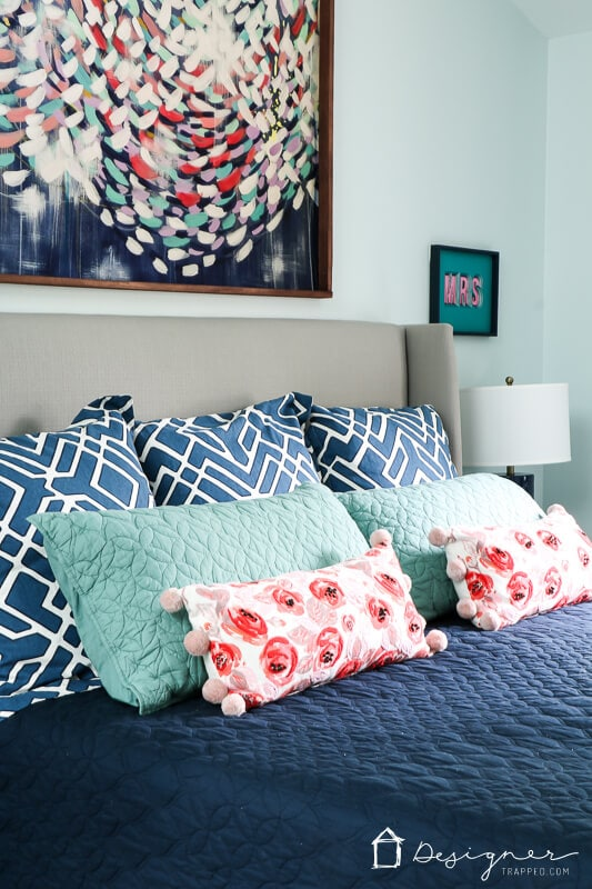 Colorful home decor that's affordable
