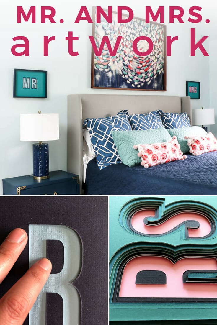 Mr And Mrs Bedroom Art
