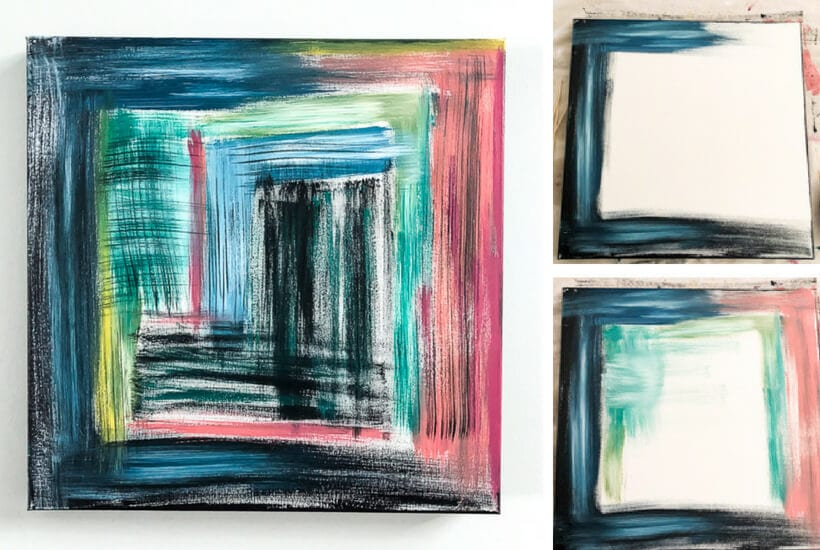diy abstract canvas art that anyone can make designer trapped in a