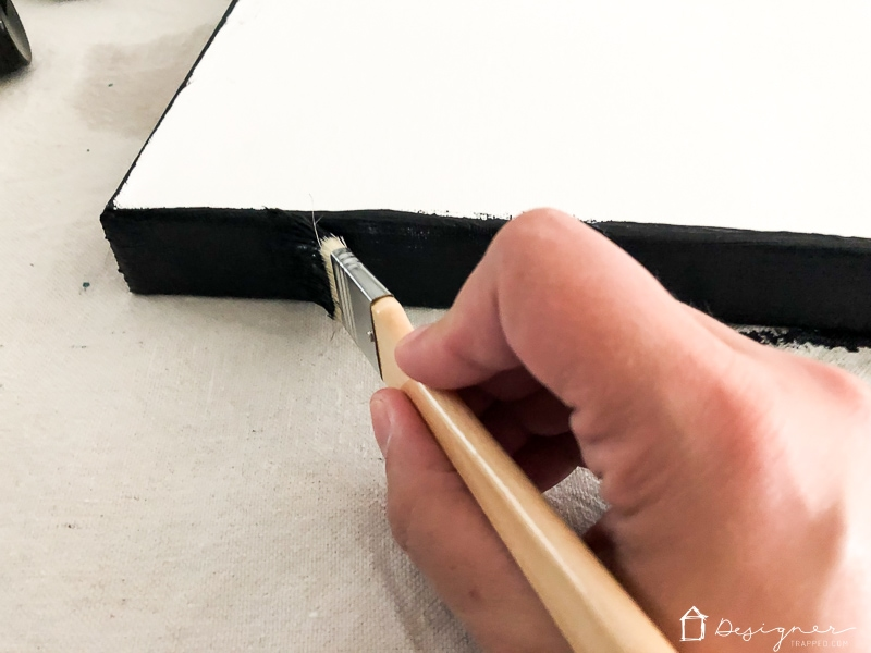 painting edge of canvas