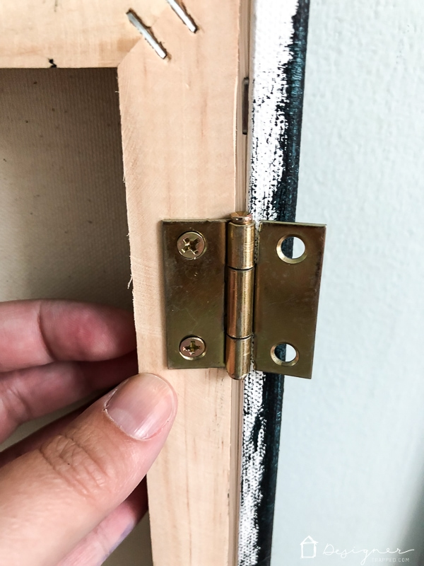 hanging art with hinges