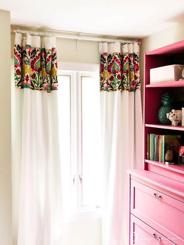 DIY curtains hanging in room