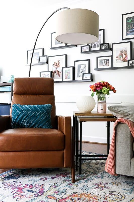 West Elm Spencer recliner in family room